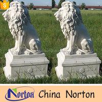 antique outdoor handmade marble lion sculpture NTBM-L058