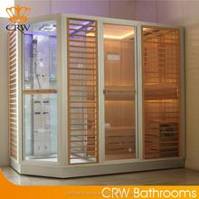 CRW AG0009 Family Steam Sauna with Ready Shower Cabin