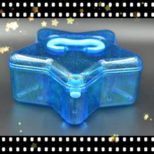 GPPS Refillable Star Shape Candy Container with Handle