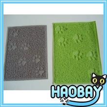 Cat litter mat pet mat/pvc floor mat
