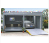 Modified container carport,two car portable garage