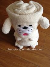 lovely mini dog cartoon baby blanket