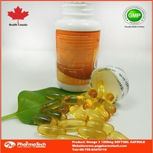 Health Canada GMP Certified private label 1200mg omega 3 fish oil soft gel