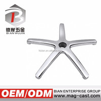 aluminum die casting polishing office chair part