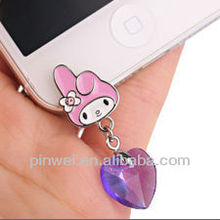New Arrival rabbit anti dust plug for iphone 5 accessories DP91019