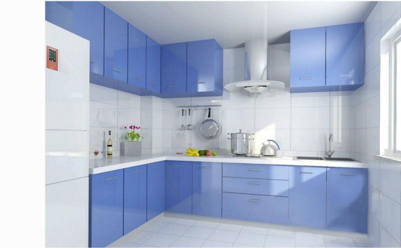 Modern Kitchen Cabinet European Stylecolored Glass Kitchen Cabinet