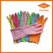 CE ISO blue red pink yellow certified latex household gloves