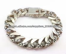 La moda de joyería de plata 925 bijouterie mayoristas pulsera de moda para el hombre sexy