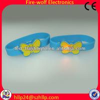 Top quality led light silicon slap wristband bracelet manufacturer & supplier