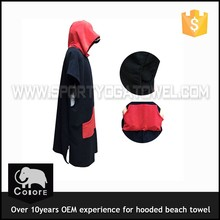 High quality beach swimming kids hooded poncho towel