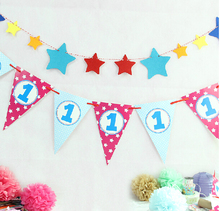 Wholesale DIY Decoration Paper flags Bunting Kit