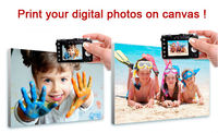 Buy directly custom photo canvas print picture for wall