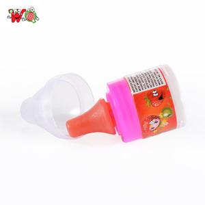 Bottiglia di plastica capezzolo a forma di lecca-lecca marche con polvere piccante