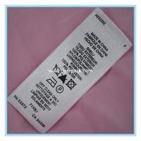 100% cotton garment washing instruction labels