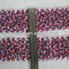 American flag printed shabby flowers , shabby flowers by the yard in American flag