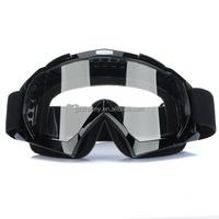 Audew Black Super Motorcycle Bike ATV Motocross Ski Snowboard Off-road Helmet Goggles Glasses FITS OVER RX GLASSES Eye Lens