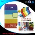 venta al por mayor impreso de cuero de la pu flip stand de cuero cubierta de la caja para blackberry q5