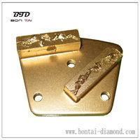 Split PCD diamond pad/concrete epoxy pcd grinding pad 2 segments