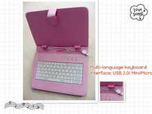 Bluetooth Keyboard PU Leather tablet carrying case Cover For Ipad