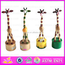 2015 New wooden kids puppet toy,Popular giraffe style wooden puppet,High quality promotion puppet gift toys cute toys WJ278078