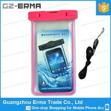 New 2015 Universal 5.5 inch Cellphone Waterproof Pouch with Strap for Water Sport