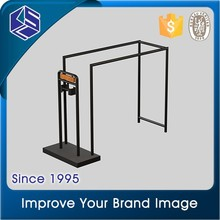 Clothing store polished finish display stand for garment shop design