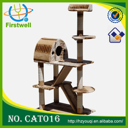 2015 new products cat tree with toys
