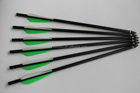 green and white 13.4'' Fiberglass Crossbow Bolts Arrows for Hunting Bow Archery Outdoor