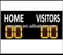 led football scoreboard with LED team name,Two-side Led Football Scoreboard with 4 Digits Large LED Display