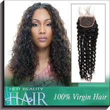 Bulk Buy Lace Closure 4*4 Curly Peruvian Mongolian Virgin Hair