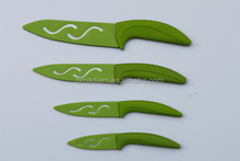 3+4+5+6 green colorful fantastic design Ceramic Knife with PP blade protector cover in gift box