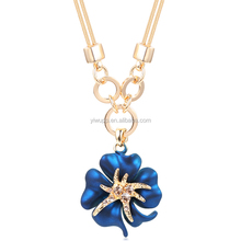 2015 fashion Flower decoration necklace,short paragraph clavicle chain for women 190
