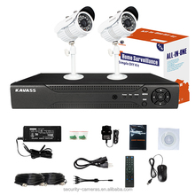 KAVASS 4CH DVR HD Sony Sensor 1100TVL outdoor surveillance systems with Cable Power Adaptor(CLG-2C1100B)