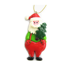 Clay dough pendant ornament Santa Claus clay dough Christmas tree hang ornament for Christmas party