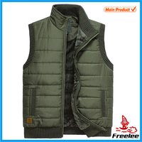 2015 Green Quilted Puffer Vest Mens, Outdoor Casual Waistcoat