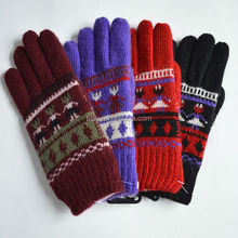 Factory Acrylic knitting class safety protective gloves