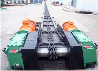 Carbon Steel Vertical Chain Scraper Slat Conveyors for Powders