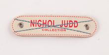 Oem rectangular digital print leather patch for garments
