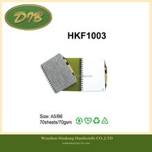 felt series felt cover notebook with pen A5/B6 80sheets/70gsm--HKF1003