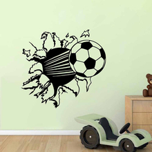 Adhesive football 3d wall sticker for kids