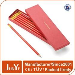 Top quality eco custom made logo print paper pencil box