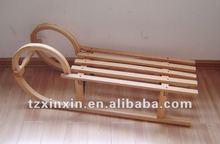 Sólido de madera plegable trineo de nieve, al aire libre de madera de trineos