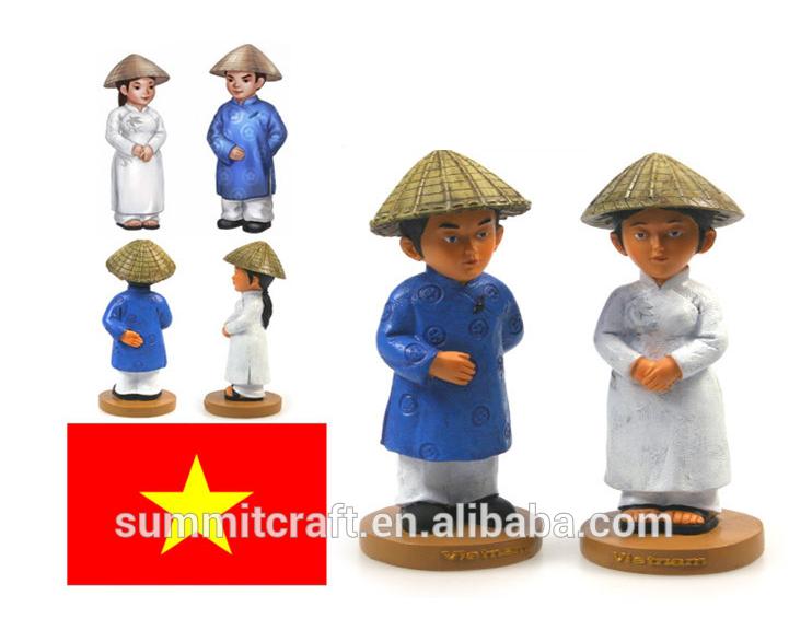 geleneksel Vietnam moda reçine seks heykelcik Bobble kafa