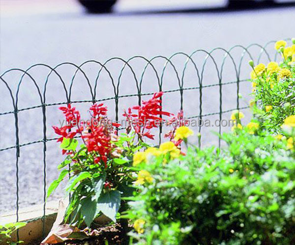 Plastic Coated Border Green Garden WIre Mesh Fence View Coated Border Green