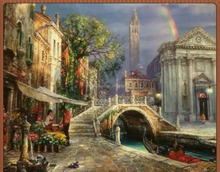 Wall decoration garden scenery oil painting