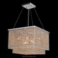LED pendant light, Crystal Silver modern pendant light fixtures