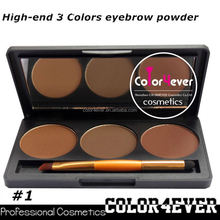 Professional eye makeup palettes 3color Makeup factory Eyeshadow&eyebrow Palette eyeshadow group