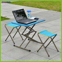 Convenient storage,adjustable height table and folding stool HQ-1052-10