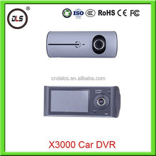 Dual camera dash cam Full HD 1080P manual car camera video recorder with gps logger dual car camera dvr