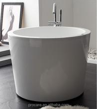 New Freestanding Seamless modern Acrylic Bathtub 1100mm Round soaking tub